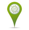 location coronavirus icon vector image