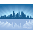 Minneapolis Minnesota skyline vector image vector image