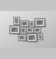 modern minimalist black blank picture frame with vector image