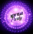 new year party design vector image