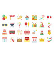 new year party elements flat icon set 2