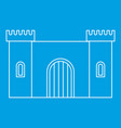 old fortress towers icon outline style vector image vector image