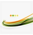 Orange and green wave line design nature eco vector image vector image