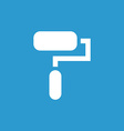 paint roller icon white on the blue background vector image