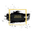 painted black texture over square frame vector image vector image