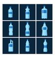 plastic water bottle blank brochure nature vector image vector image