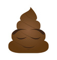 poop emoji sleeping vector image