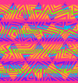 psychedelic colors triangle seamless pattern vector image