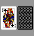 queen of clubs playing card and the backside vector image vector image