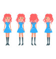 redhead girl in modern elegant look young girls vector image vector image