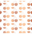 rose gold foil cherry seamless pattern vector image vector image