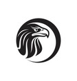 round eagle head vector image