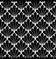 seamless black fan scales repeating pattern vector image