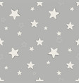seamless stars pattern on gray background vector image vector image