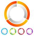 segmented circle abstract icon circular geometric vector image