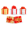 Set of colorful gift boxes with bows vector | Price: 1 Credit (USD $1)