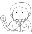 set of doctor vector image vector image