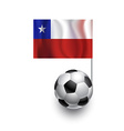 Soccer Balls or Footballs with flag of Chile vector image