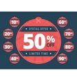 Special offer cut off coupons vector image