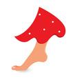 walking mushroom vector image vector image