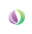 water ecology bio abstract symbol logo vector image vector image
