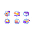 web service icons vector image
