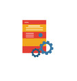 website optimization icon simple element from seo vector image vector image
