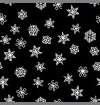 winter pattern snowfall and white snowflakes on vector image vector image