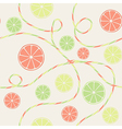 Citrus seamless pattern with orange lemon and lime vector image