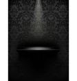 Empty shelf black luxury vector image