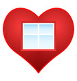 heart and window vector image