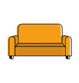 isolated couch design vector image