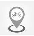Bicycle sign inside pointer vector image