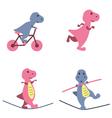 Dinosaurs activities vector image
