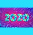 2020 blue magenta new year background vector image