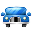 a simple car on white background vector image vector image