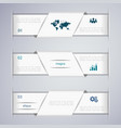 abstract clean web banner design template vector image vector image