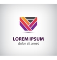 abstract colorful ribbon icon logo vector image vector image
