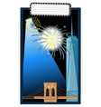background design with tower and bridge vector image vector image
