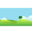 beautiful fields landscape with a hills vector image