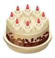 birthday cake icon isometric style vector image vector image