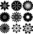 Black floral templates vector image vector image