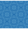 Blue floral seamless wallpaper pattern vector image