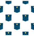 blue pocket with a button pattern flat vector image vector image