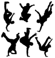 Break Dancers vector image vector image