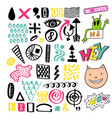 bright memphis textures collection set for vector image vector image