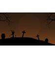 Brown backgrounds Halloween hand zombie vector image vector image