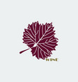 burgundy grape leaf vector image vector image