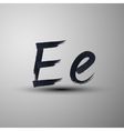 calligraphic hand-drawn marker or ink letter E vector image vector image