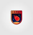 comet meteor logo icon design vector image